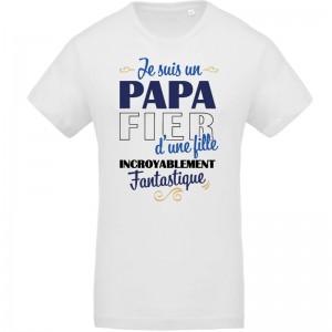 T-shirt Bio Je suis un papa fier