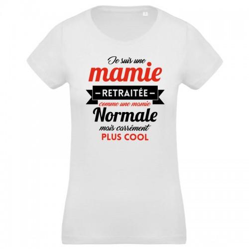 T-shirt femme Je suis une Mamie retraitée