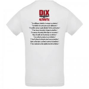 T-shirt Les 10 commandements de la retraite