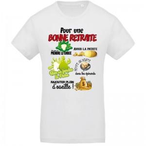 T-shirt Pour une bonne retraite