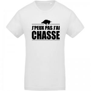 T-shirt imprimé J'peux pas j'ai chasse