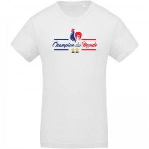 T-shirt coq France champion du monde