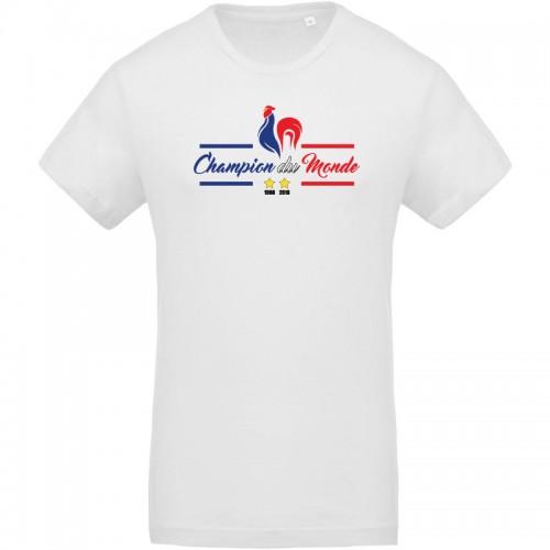T-shirt coq France champion du monde