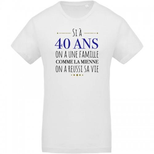 T-shirt à 40 ans on une famille comme la mienne