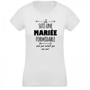 T-Shirt Je suis un marié formidable mariage