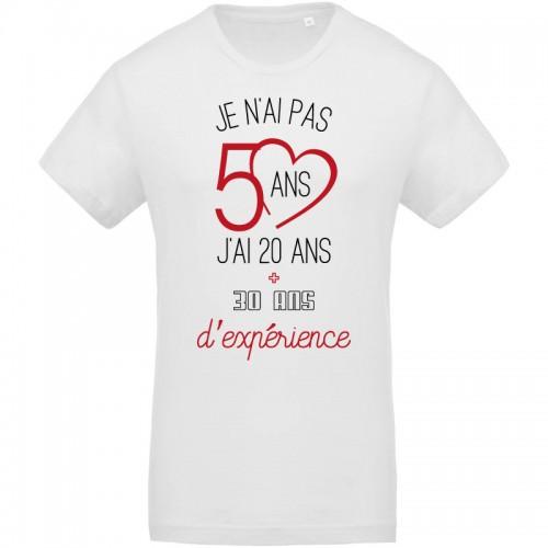 Tee-shirt 20 ans et 30 ans d'experience