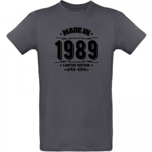 Tee shirt anniversaire Made in 1989