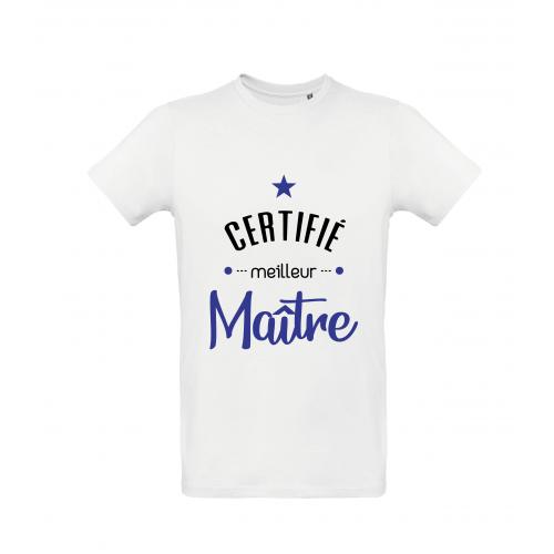 T-Shirt Certifié meilleur Maître