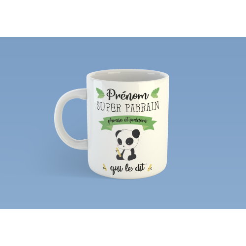 Mug Super Parrain Panda