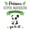 Mug Super Marraine Panda