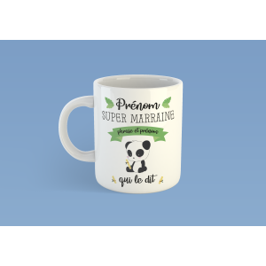 Mug Super Marraine Panda
