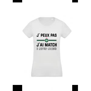 T-Shirt Je peux pas j'ai match ...