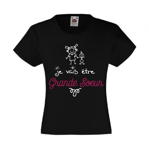 """T-Shirt enfant """"Je vais être grande soeur"""""""