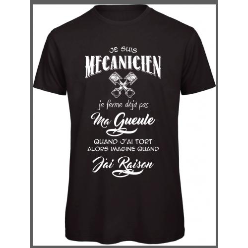 T-shirt Mécanicien qui a raison