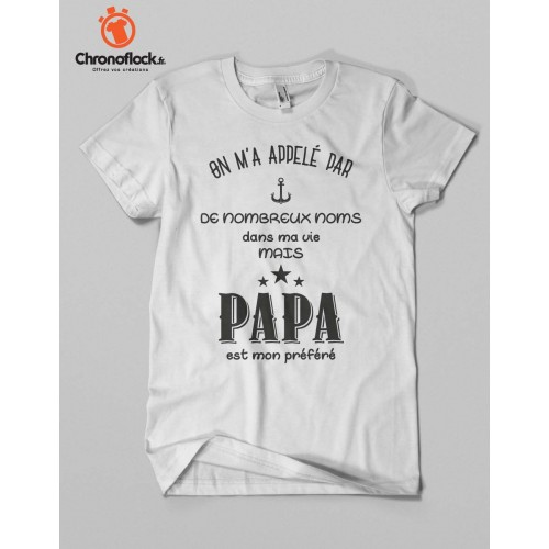 T-shirt Papa est mon préféré