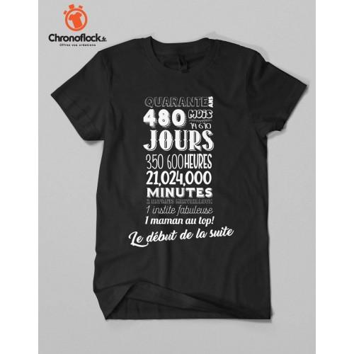 T-shirt 40 ans