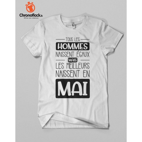 T-shirt Tous les homme naissent égaux