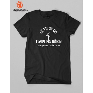 T-shirt Twirling Bâton