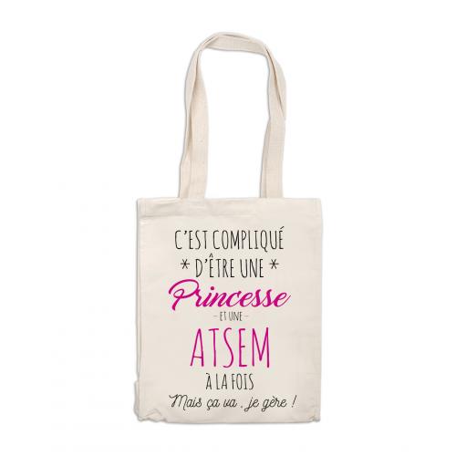 Tote bag Princesse et Atsem en même temps