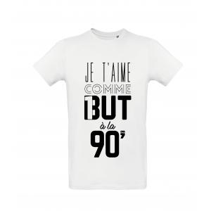 T-Shirt Je t'aime comme un but